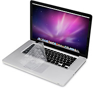 """Protective Clear Screen Guard+Thin TPU Keyboard Cover+Metal Rest and Touch Panel Membrane for 13.3""""/15.4"""" MacBook Pro"""