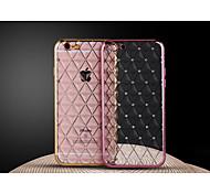 сетки алмазов гальванизирует ТПУ с задней случае для iphone6 плюс / 6S плюс (разные цвета)