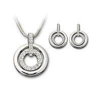 abordables -Mujer Cristal Conjunto de joyas - Cristal Incluir Plata / Rosa / Dorado Para Boda / Fiesta / Cumpleaños / Pendientes / Collare