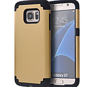 cheap -Case For Samsung Galaxy Samsung Galaxy S7 Edge Shockproof Bumper Solid Color PC for S8 S8 Edge S7 edge plus S7 edge S7