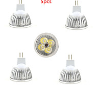 5pcs mr16 led spotlight mr16 4 smd 350lm теплый белый холодный белый декоративный dc12v