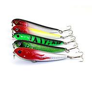 """5 pcs Cebos Lápiz Colores Aleatorios g/Onza,70 mm/2-3/4"""" pulgada,Plástico duroPesca de Mar Pesca de agua dulce Otros Pesca de Cebo Pesca"""