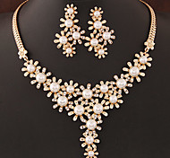 cheap -Women's Jewelry Set Pearl Imitation Pearl Rhinestone Imitation Diamond Alloy Fashion European Wedding Party Birthday Engagement Gift