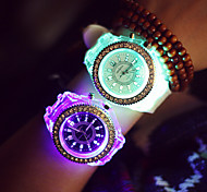 Women's Round Dial Luminous Silicone Band Fashion Quartz Sport Watches (Assorted Colors) Cool Watches Unique Watches Strap Watch