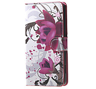 For Nokia Case Wallet / Card Holder / with Stand Case Full Body Case Flower Hard PU Leather Nokia Lumia 650
