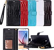 Недорогие -Кейс для Назначение SSamsung Galaxy Samsung Galaxy S7 Edge Бумажник для карт Кошелек со стендом Флип Чехол Полосы / волосы Кожа PU для S8