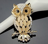 cheap -Women's Crystal Cute Owl Animal Brooch for Wedding Party Decoration Scarf ,Fine Jewelry