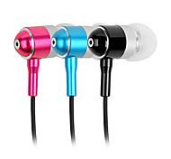 abingo a100i auriculares estéreo de auriculares in-ear de metal de alta fidelidad de bajo con micrófono