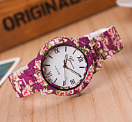 Women's European Style Fashion Flower Print Wrist Watches Cool Watches Unique Watches