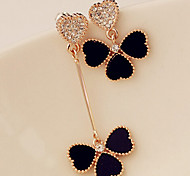 Women's Drop Earrings Mismatch Rhinestone Alloy Jewelry For Daily Casual