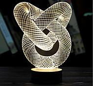 визуальная 3d модель атмосферы ленты настроение водить украшения USB настольная лампа красочный подарок ночь свет (сортированный цвет)