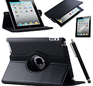 abordables -Funda Para Apple Mini iPad 3/2/1 iPad 4/3/2 iPad Air 2 iPad Air con Soporte Origami Rotación 360º Funda de Cuerpo Entero Color sólido Dura