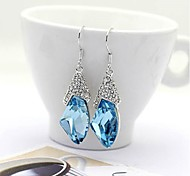 cheap -Women's Crystal Drop Earrings - Blue Pink Earrings For Wedding Party Daily