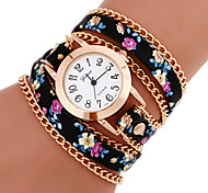 cheap -Women's Quartz Bracelet Watch Casual Watch PU Band Flower Bohemian Fashion Multi-Colored