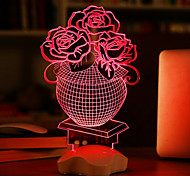 Недорогие -1 ед. 3D ночной свет USB Батарея пластик 1 лампа Батарейки не входят в комплект