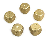cheap -Dice Dices and Chips Toys Fun Aluminium Classic 5 Pieces Children's Gift