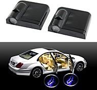ziqiao беспроводной двери автомобиля приветствуется свет 2 установлен черный (BAT)