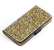 cheap -Luxury PU Wallet Metal Crystal Diamond Flip Case Cover For Samsung Galaxy S3/S4/S5/S6/S6E/S7/S7E/S6E PLUS