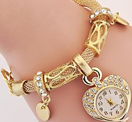 Women's Kids' Fashion Watch Wrist watch Bracelet Watch Quartz Rhinestone Imitation Diamond Alloy Band Charm Vintage Heart shape Casual