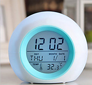 cheap -Digital LED Glowing Change Clock Alarm Thermometer with Nature Sound
