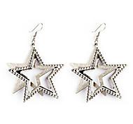European Style Gold/Silver Star Earrings Jewelry for Women