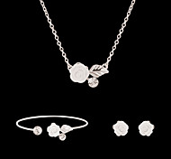 Women's Jewelry Set Floral Flower Style Cute Party Flowers Fashion Party Special Occasion Anniversary Birthday Gift Imitation Pearl