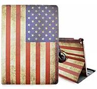 Недорогие -Специальная конструкция новизны американский флаг пу кожаный фолиант случай кобуры 360⁰ случай Ipad про