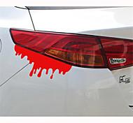 14 * 5см светоотражающие наклейки Кровотечение личности автомобиля (1шт)
