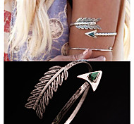 Body Jewelry Arm Cuff/Arm bands Unique Design Fashion Jewelry Feather Peacock Silver Jewelry Christmas Gifts 1pc