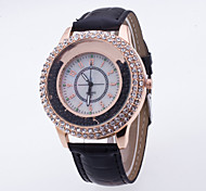 Women's Sport Watch Dress Watch Fashion Watch Wrist watch Pave Watch Floating Crystal Watch Quartz Large Dial Genuine Leather Band Charm
