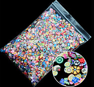 cheap -1pack Polymer Clay 3d Nail Art Mix Flowers Feather Fruit Fimo Nail Stickers Decorations