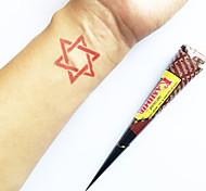 Хэллоуин природных растительных Kashmir хной конусов комплект временную татуировку Менди Кавери (красный)