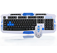High Quality Wireless Computer Keyboard 1600DPI Mouse Battery and Mousepad Set Four Pieces a Set