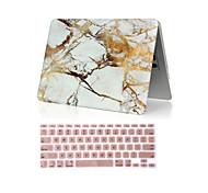 """2 en 1 caso duro de mármol de cuerpo completo + cubierta del teclado para MacBook Air 11 """"pro 13.3"""" /15.4 """""""