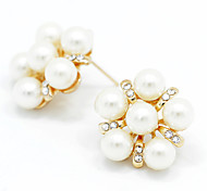 cheap -Women's Pearl Stud Earrings - Pearl Fashion White For Wedding / Party / Daily