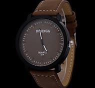 Недорогие -Мужской Спортивные часы Наручные часы Кварцевый Кожа Группа Черный Коричневый