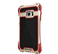 R-Just Aluminum Carbon Fiber Metal Case Cover Armor Gorilla Glass Shock Dust Proof for Samsung Galaxy  S7 edge/S7 S8 PLUS S8