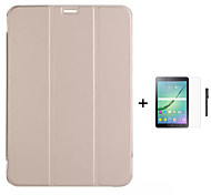 искусственная кожа стенд книги случай для Samsung Galaxy Tab с / вкладки с / вкладке 8.4 10.5 8,0 / таб 9,7 + стилус + пленка