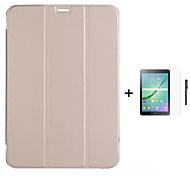 pu libro di cuoio del basamento per Samsung Galaxy Tab 8.4 s / s scheda 10.5 / scheda 8,0 / scheda 9,7 + stylus + film