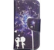 узорной кожаный бумажник чехол для Ipod Touch 5/6 с подставкой - одуванчик