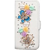 New flip PU leather Strobe diamond phone Case for Samsung Galaxy s7edge / s7 / s6edge / s6 / s5 / s4 / s3 / s2