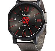 Недорогие -JUBAOLI Муж. Кварцевый Наручные часы Крупный циферблат Нержавеющая сталь Группа Винтаж Мода Cool Черный