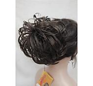 Недорогие -Естественные кудри Конские хвостики синтетика Волосы Наращивание волос Коричневый
