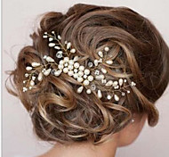 cheap -Women's Elegant Pearl Hair Comb