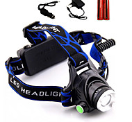 LS1791 Headlamps Headlight LED 2000 lm 3 Mode Cree XM-L T6 with Batteries and Chargers Zoomable Adjustable Focus Rechargeable Tactical