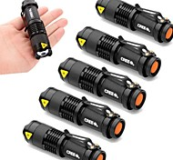 cheap -UltraFire 6pcs Lot Mini 2000lm Cree Q5 LED 3 Mode Adjustable Zoom Focus Impact Resistant Flashlight Torch Lamp AA Flashlight Torch Light