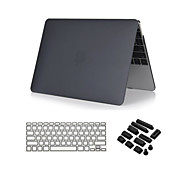 "cheap -Case for Macbook Air 13.3"" Solid Color ABS Material 3 in 1 Crystal Clear Soft-Touch Case with Keyboard Cover and Dust plug"