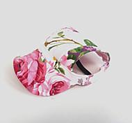 Недорогие -Кошка Собака Платки и шапочки Одежда для собак Цветы Розовый Нейлон Костюм Для домашних животных Жен. Праздник