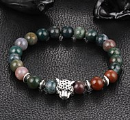 cheap -New Arrival Multicolors Nature Stone Leopard Bracelet Strand Bracelets Daily / Casual 1pc Christmas Gifts