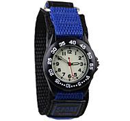 cheap -Children's Fashion Watch Quartz Casual Watch Fabric Band Cool Blue Grey Purple